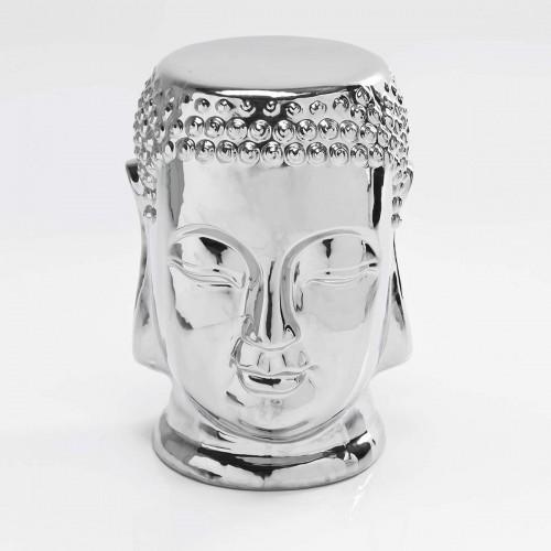 Sgabello o tavolino Buddha argento H 45 cm
