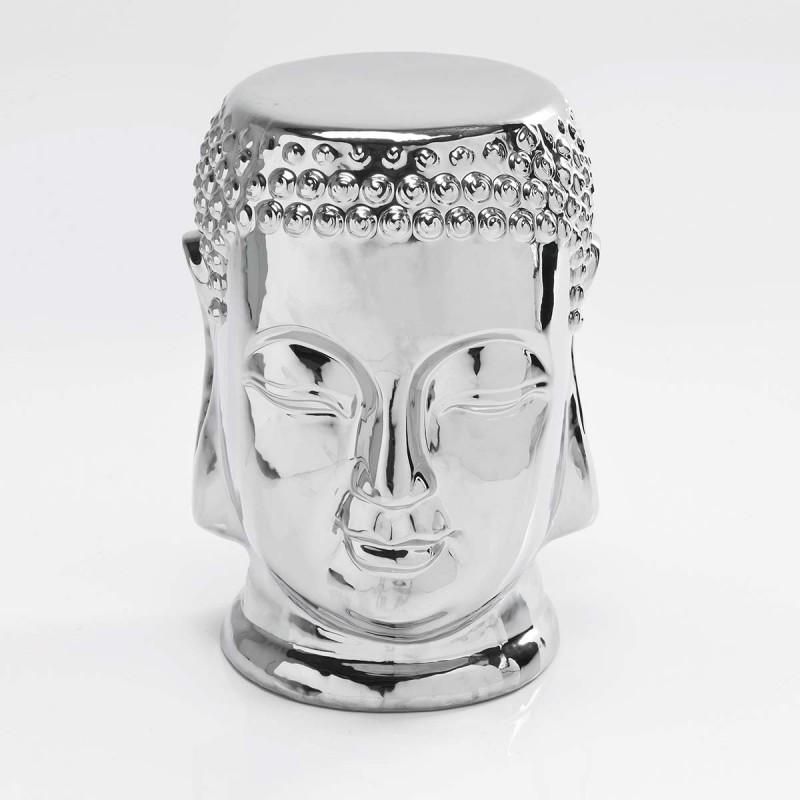 962 KA77974_a Sgabello Buddha col. argento
