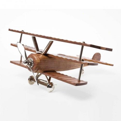 Aereo modellino in legno Deco Fokker 22x48x52