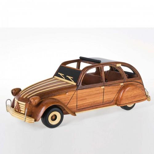 Auto in legno citroen 2 cavalli 30x13x11 cm