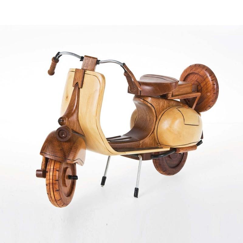962 KA30830_a Scooter deco legno 15x27x12 cm