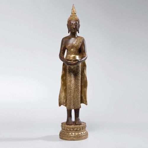 Buddha in piedi oro porta candela H 80cm