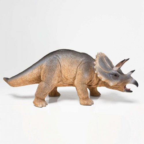 Dinosauro Triceratopo in vetro resina  85x29x34cm