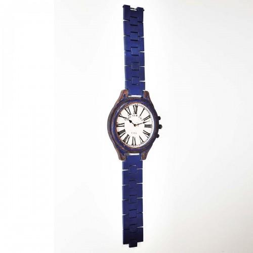 Orologio da Parete Vintage Blu H 169 cm
