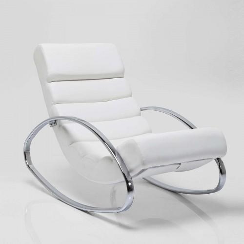 Sedia dondolo Manhattan bianca 62x110x81