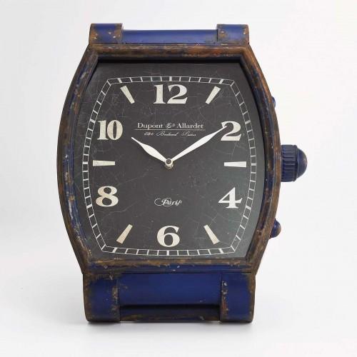 Orologio Tavolo Vintage blu in metallo 39x35x34