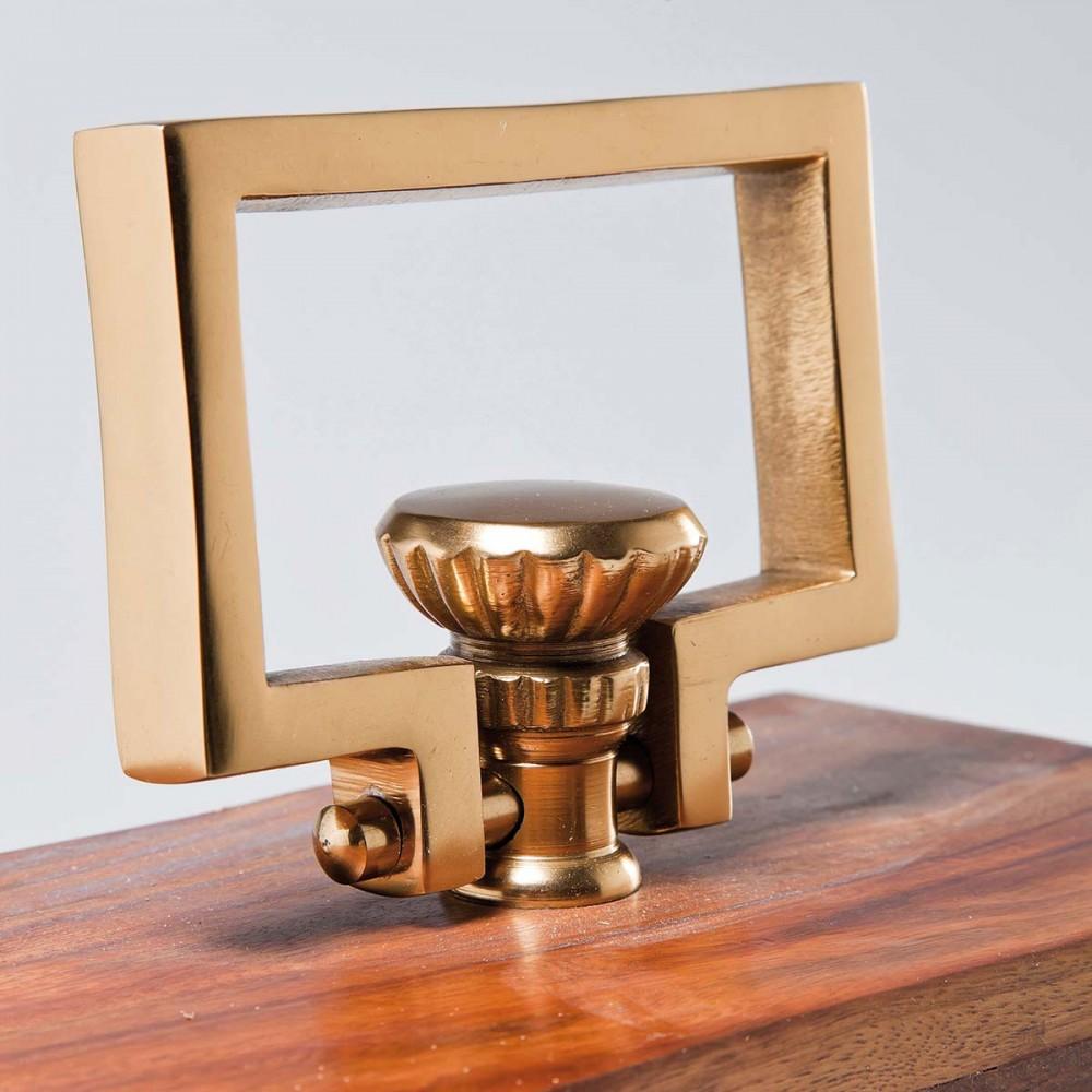 Orologio legno 25x23x12cm for Orologio da tavolo legno