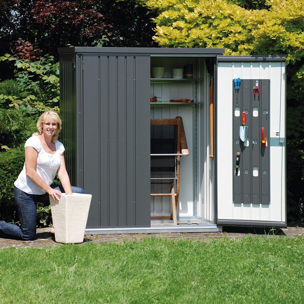 Armadio per attrezzi in metallo adatto per ogni caso alberti design - Armadio porta attrezzi da giardino ...