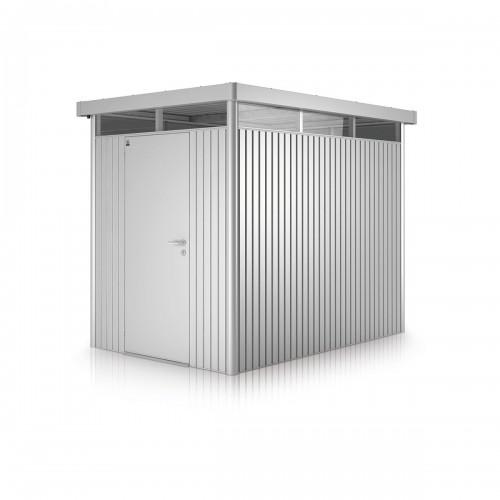 La casetta per attrezzi HighLine in metallo soddisfa anche le esigenze più elevate.