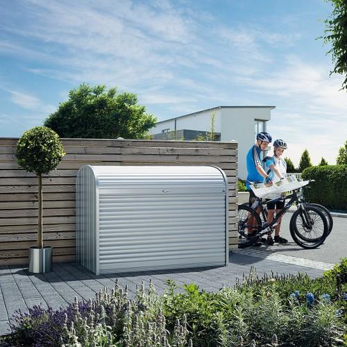 maxi baule a serrande in metallo per giardino alberti design