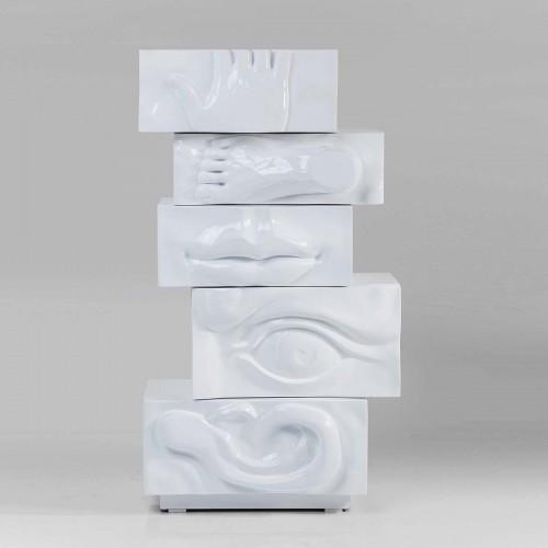 Madia alta BodyArt bianca 80x47x144
