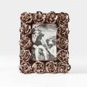 Cornice portafoto con rose in rilievo oro 20x25cm
