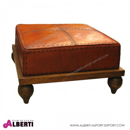 Puoff MARRAKECH in pelle 80X80X45