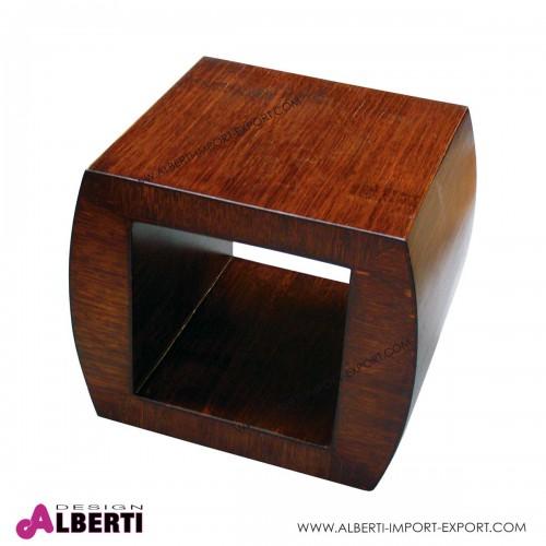 Tavolino modulo in fibra naturale resinata 48x40xh40cm