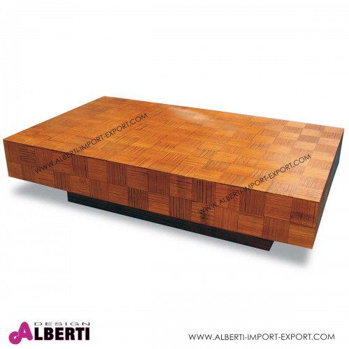 Tavolino da caffè mosaico Malta in fibra naturale resinata 120 x 72
