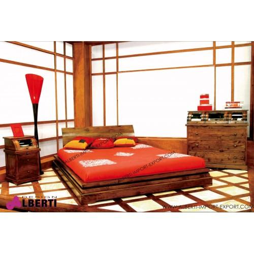 Letto matrimoniale in legno di teak IBERIA 170x220