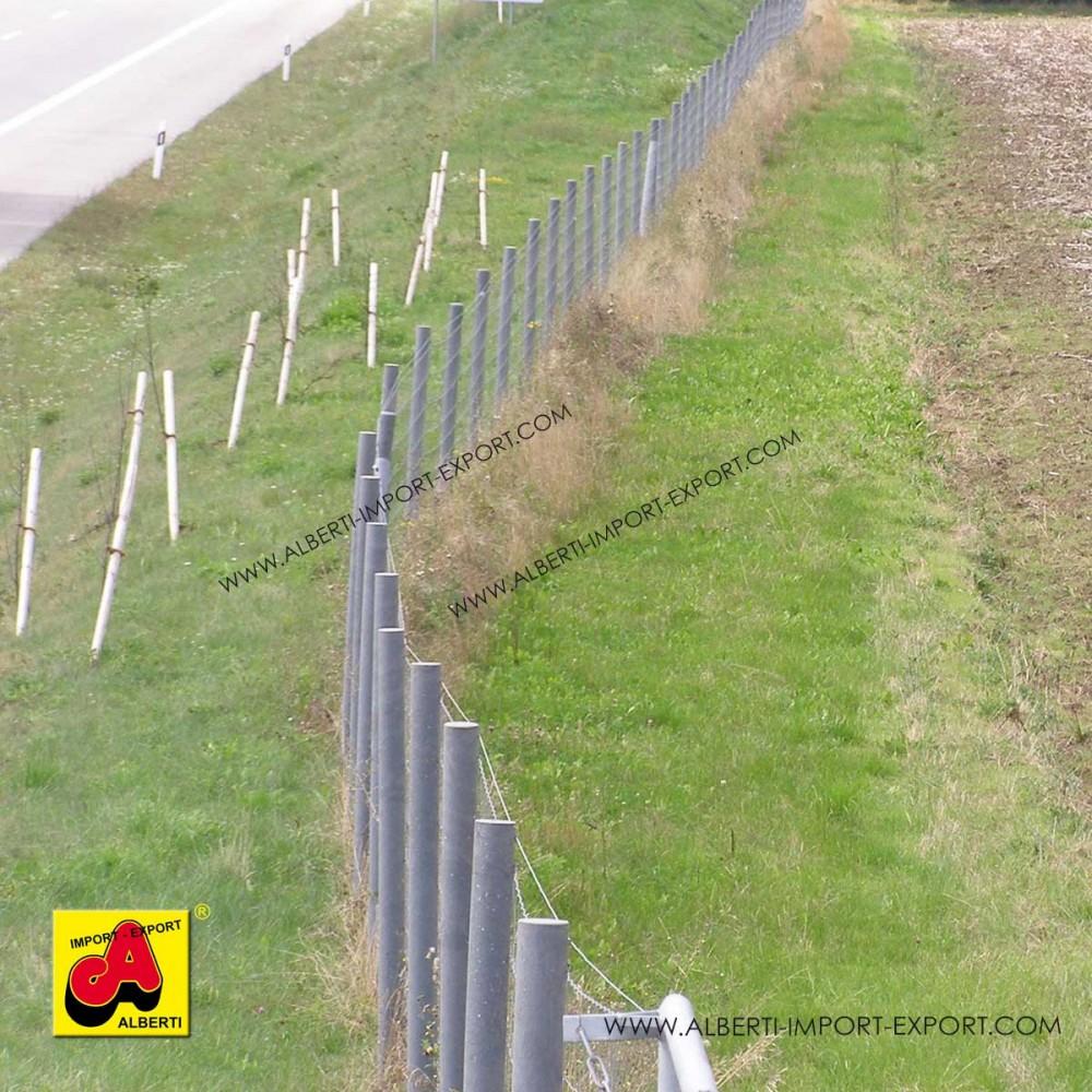 Pali tondi con punta rinforzati in PVC con anima in ferro - Alberti Design