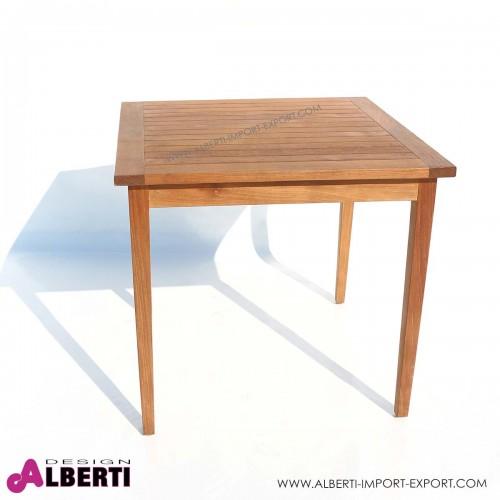 Tavolo quadrato in teak per esterno 80x80 cm