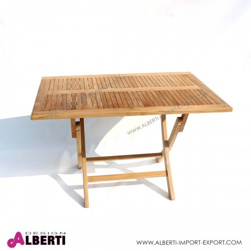 Tavolo in teak rettangolare pieghevole 120x80