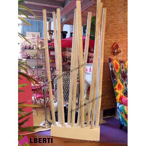 962 BZ0721381_a Separè bamboo AWI bianco con basamento 97 x 30 x H 251