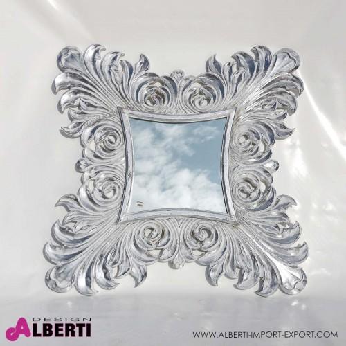 Specchio Fiamme bianco silver 120x120 cm