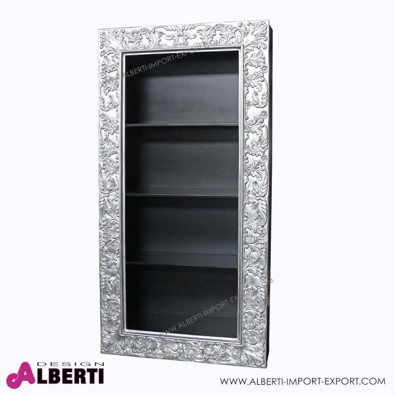 962 BA2022_a Libreria pensile silver/foglia   silver 3 ripiani 35x100xh200