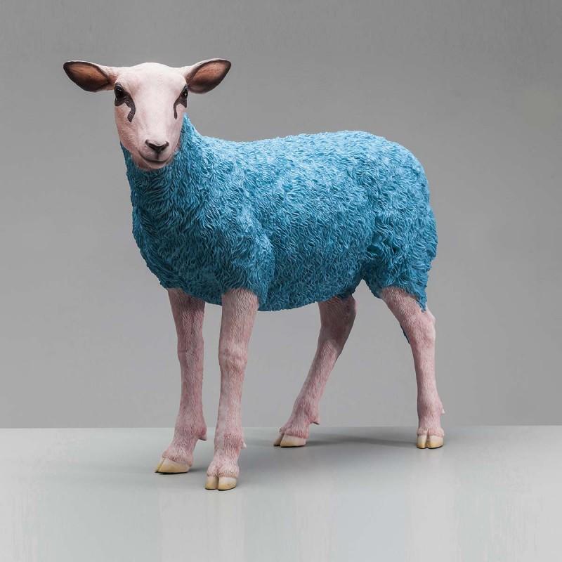 962 KA38133_a Fig.deco pecora azzurra 49x21x60