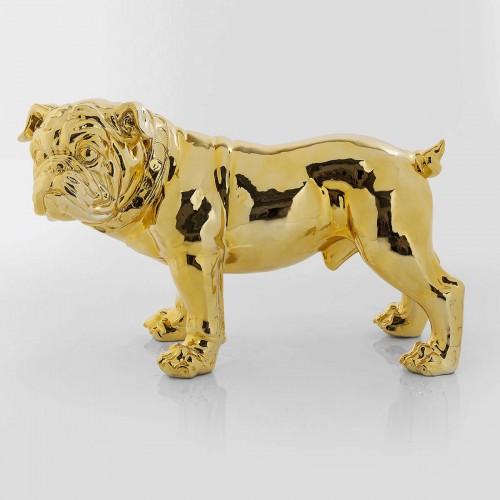 Figura Deco Bulldog oro 69,5x32,5x H 42cm
