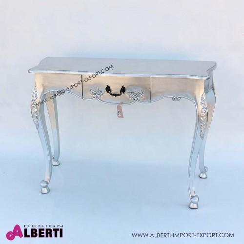 962 BA2084_a Tavolino intagliato foglia argent 120x51x85