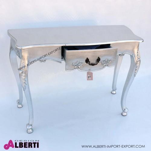 962 BA2084_b Tavolino intagliato foglia argent 120x51x85