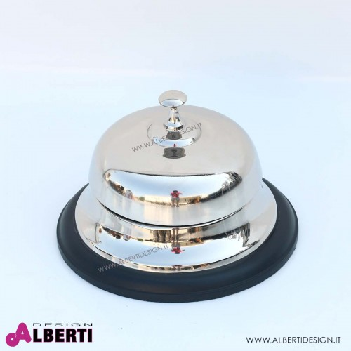 Campanello reception in metallo lucido D26 H20 cm
