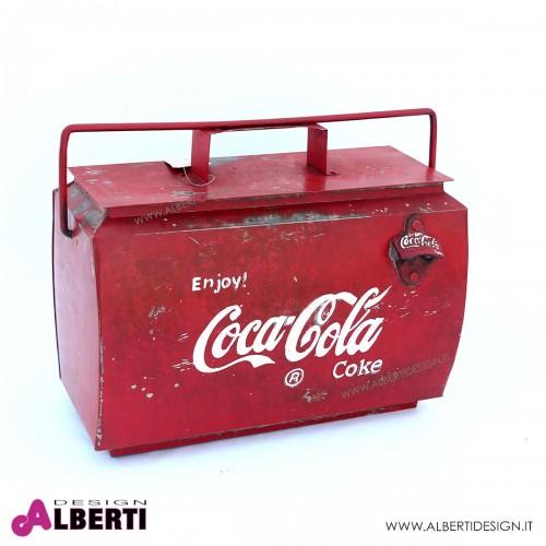 Contenitore Coca Cola per bottiglie e ghiaccio 43x24x30 cm