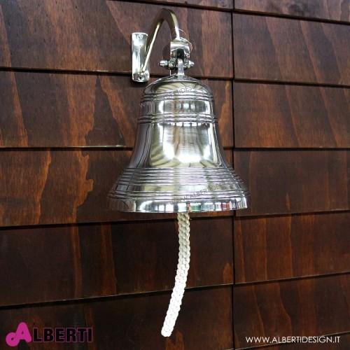 Campana da muro in metallo a specchio D25 H30 cm