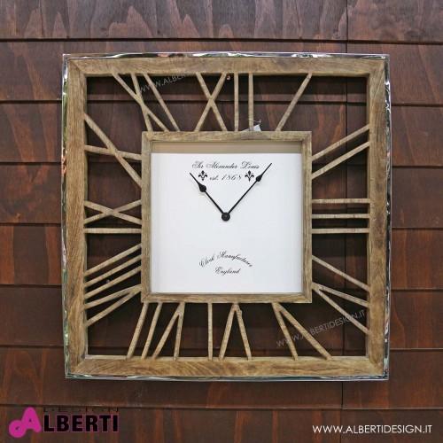 Orologio da muro legno metallo 75x75 cm