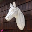 Testa di cavallo da muro HorseHead bianco 14x32xH41 cm