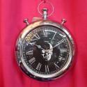 Orologio da parete rotondo Rockstar con teschio