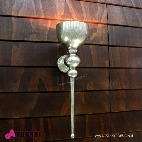 Lampada da parete in metallo 24x17x H 61cm