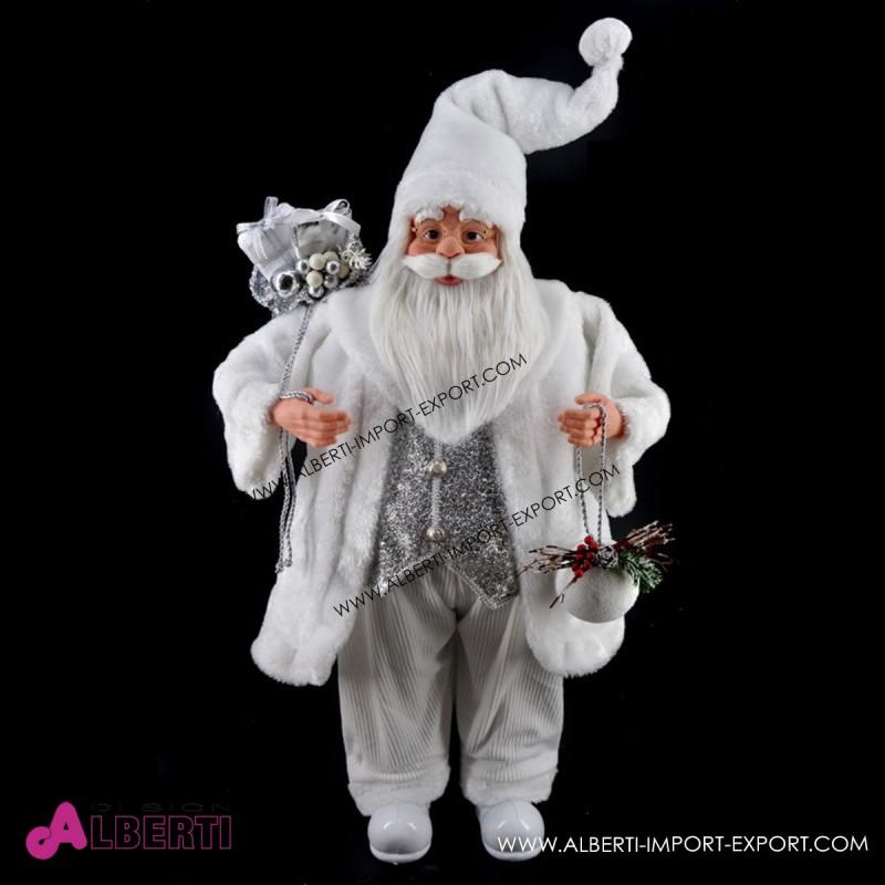 Babbo Natale 90 Cm.Babbo Natale In Piedi Bianco 90cm