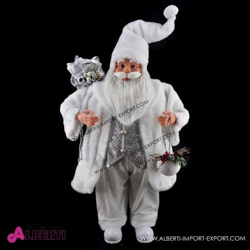 Babbo Natale in piedi bianco 90cm
