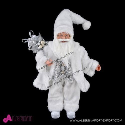 Babbo Natale in piedi bianco 45cm