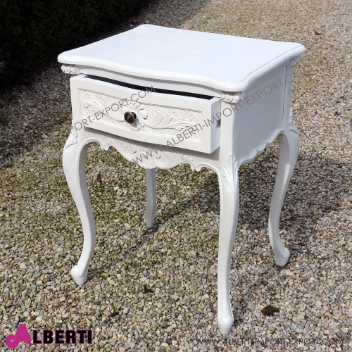 962 BACLUGAW_a Comodino LUGANO white 51x42x67