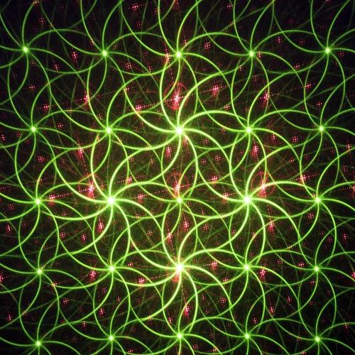 Proiettore laser luminoso per esterno verde/roso in movimento