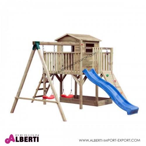 Parco giochi in legno da giardino  420x370xH250 cm