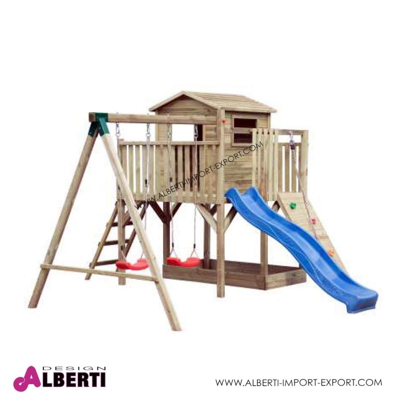 Composizione per bambini da giardino tobias 420x370xh250 cm for Case per bambini da giardino