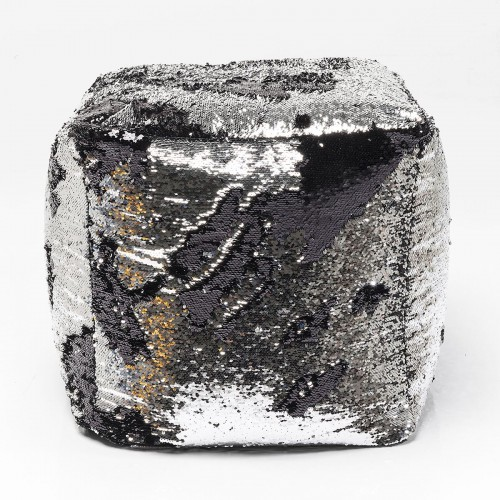Sgabello Disco Queen grigio nero 45x45