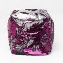Sgabello Disco Queen rosa-grigio 45x45