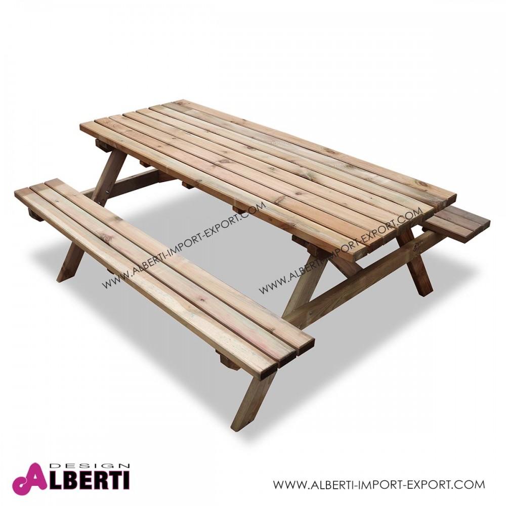 Tavolo picnic 40mm 180x150xh70cm - Tavolo pic nic legno ...