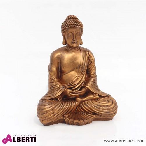 Budda seduto in vetroresina H 43cm