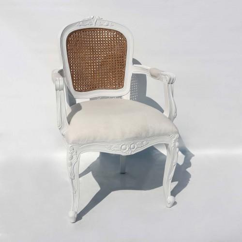 Poltrona provenzale bianca/velluto 57x57x99 cm