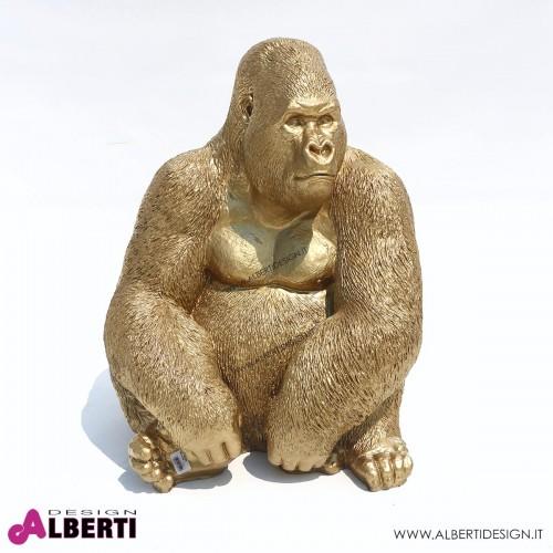Gorilla oro in vetroresina 75cm